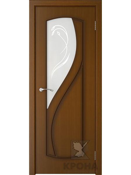 Межкомнатная дверь Крона ПО Венера (Орех)