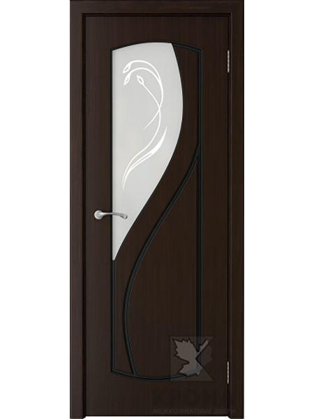 Межкомнатная дверь Крона ПО Венера (Темный шоколад)