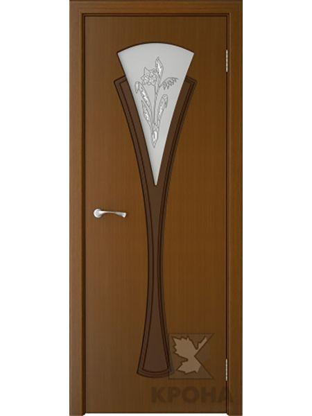 Межкомнатная дверь Крона ПО Вита (Орех)