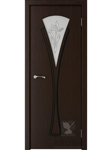 Межкомнатная дверь Крона ПО Вита (Темный шоколад)