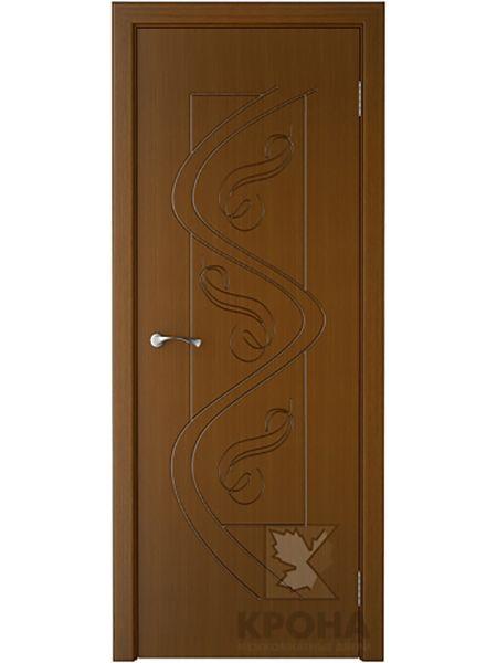 Межкомнатная дверь Крона ПГ Вега (Орех)