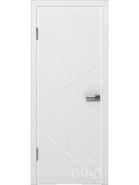 Межкомнатная дверь ВФД - Авангард П3 (Белая эмаль)