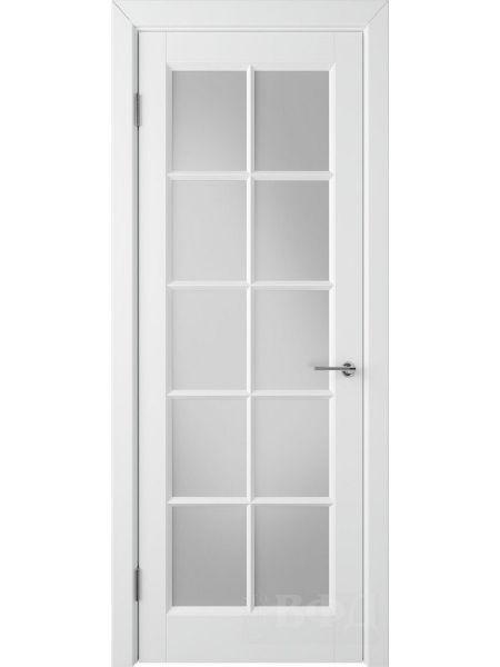 Межкомнатная дверь ВФД Гланта 57ДО0 (Белая эмаль - Белый сатинат)