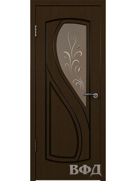Межкомнатная дверь ВФД Грация 10ДО4 (Венге)