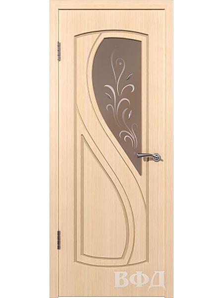 Межкомнатная дверь ВФД Грация 10ДО5 (Беленый дуб)