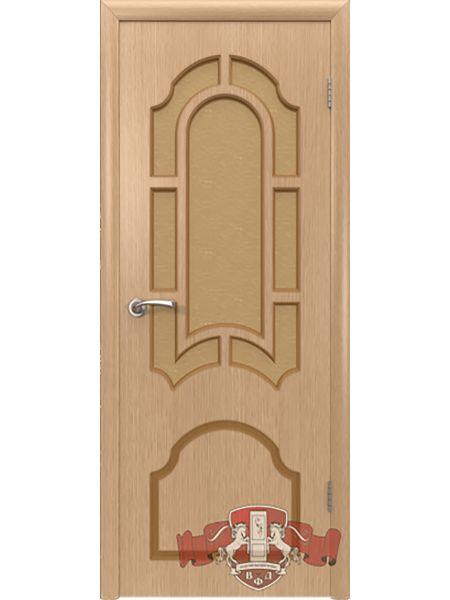 Межкомнатная дверь ВФД Кристалл 3ДР1 (Светлый дуб)