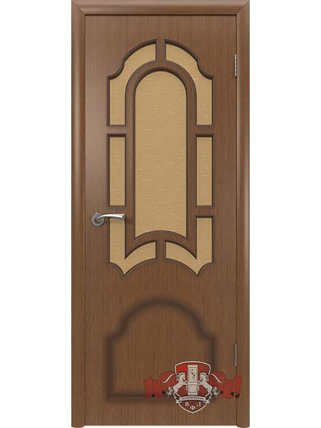 Межкомнатная дверь ВФД Кристалл 3ДР3 (Орех)