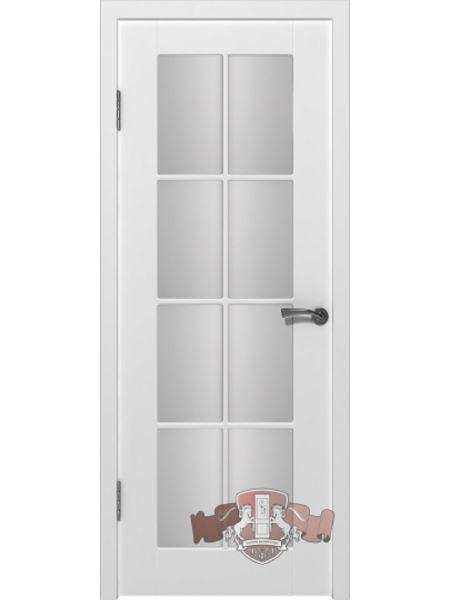 Межкомнатная дверь ВФД - Порта 20ДО0 (Белая эмаль - Сатинат белый)