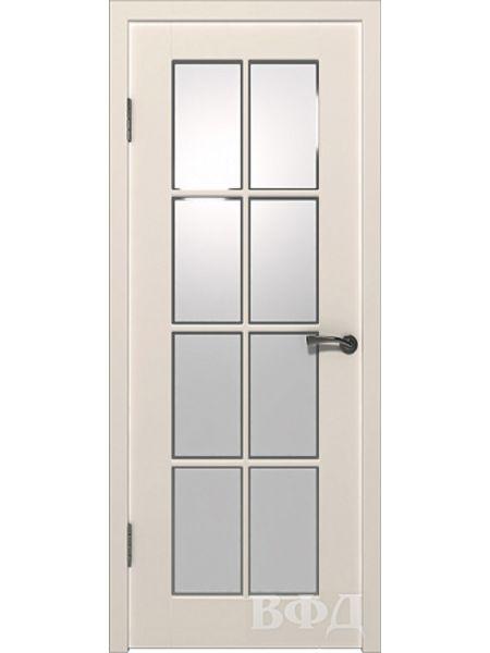 Межкомнатная дверь ВФД - Порта 20ДО1 (Слоновая кость - Сатинат белый)