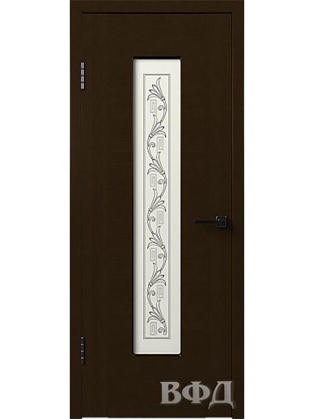 Межкомнатная дверь ВФД Рондо 8ДО4 (Венге)