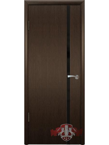 Межкомнатная дверь ВФД Рондо-Триплекс 8ДГ4 (Венге/ Триплекс черный)