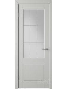 ВФД Доррен 58ДО02 (Светло-серая эмаль - Белый сатинат с гравировкой)