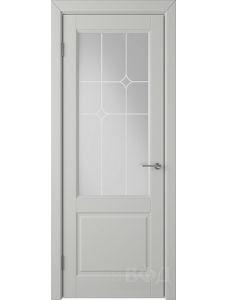 ВФД Доррен 58ДО02 (Светло-серая эмаль - Белый сатинат с печатью)