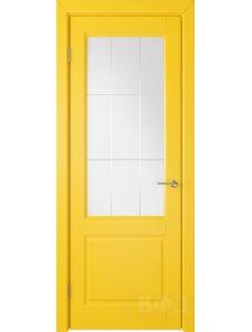 ВФД Доррен 58ДО08 (Желтая эмаль - Белый сатинат с гравировкой)