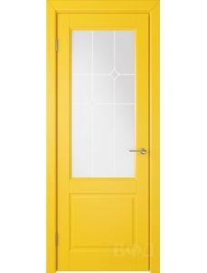 ВФД Доррен 58ДО08 (Желтая эмаль - Белый сатинат с печатью)