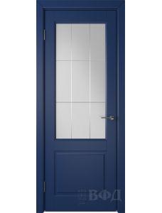 ВФД Доррен 58ДО09 (Синяя эмаль - Белый сатинат с гравировкой)
