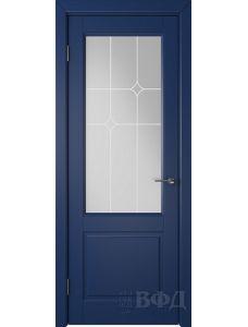 ВФД Доррен 58ДО09 (Синяя эмаль - Белый сатинат с печатью)