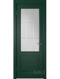 ВФД Доррен 58ДО10 (Зеленая эмаль - Белый сатинат с гравировкой)