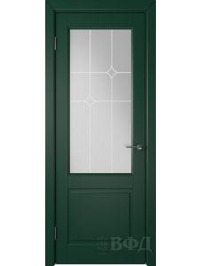 ВФД Доррен 58ДО10 (Зеленая эмаль - Белый сатинат с печатью)
