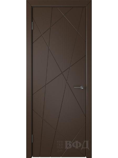 Межкомнатная дверь ВФД Флитта 26ДГ05 (Шоколадная эмаль)