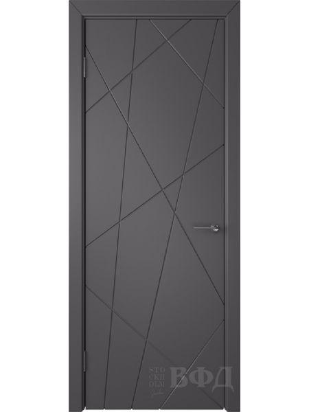 Межкомнатная дверь ВФД Флитта 26ДГ06 (Графит эмаль)