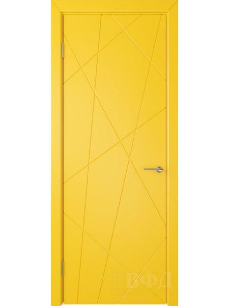 Межкомнатная дверь ВФД Флитта 26ДГ08 (Желтая эмаль)