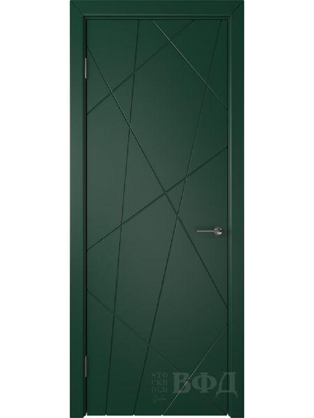 Межкомнатная дверь ВФД Флитта 26ДГ10 (Зеленая эмаль)