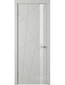 ВФД Флитта 26ДО02 (Светло-серая эмаль - Стекло белое)