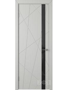 ВФД Флитта 26ДО02 (Светло-серая эмаль - Стекло черное)