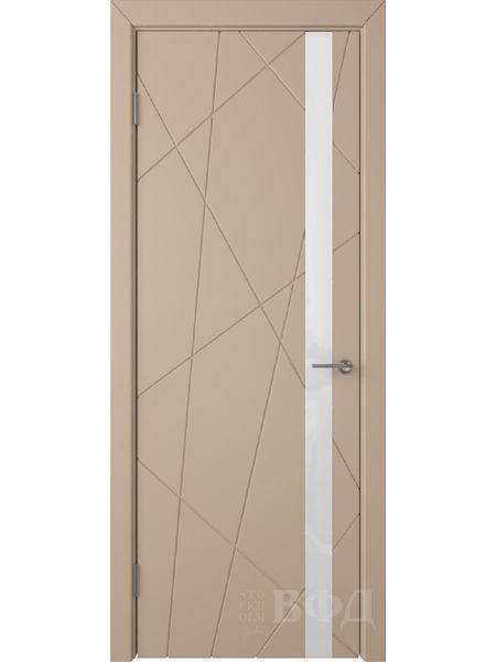 Межкомнатная дверь ВФД Флитта 26ДО04 (Латте эмаль - Стекло белое)