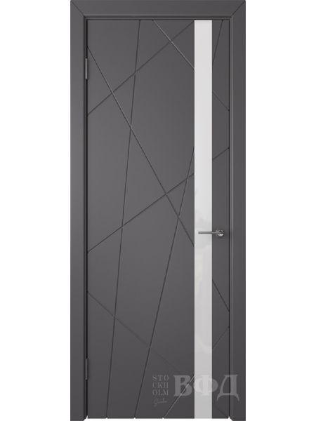 Межкомнатная дверь ВФД Флитта 26ДО06 (Графит эмаль - Стекло белое)