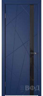 ВФД Флитта 26ДО09 (Синяя эмаль - Стекло черное)