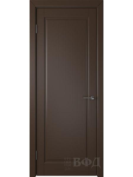 Межкомнатная дверь ВФД Гланта 57ДГ05 (Шоколадная эмаль)