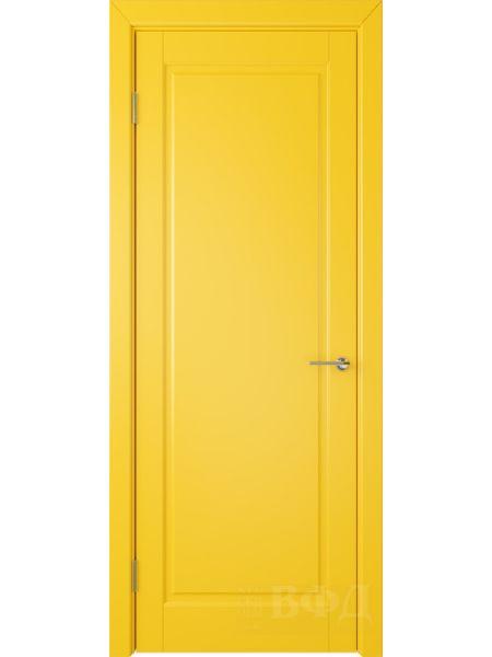 Межкомнатная дверь ВФД Гланта 57ДГ08 (Желтая эмаль)