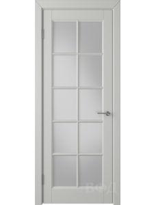 ВФД Гланта 57ДО02 (Светло-серая эмаль - Белый сатинат)