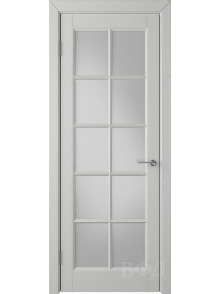 Межкомнатная дверь ВФД Гланта 57ДО02 (Светло-серая эмаль - Белый сатинат)