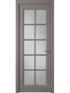 ВФД Гланта 57ДО03 (Темно-серая эмаль - Белый сатинат)
