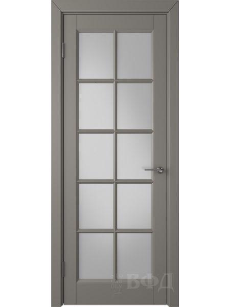 Межкомнатная дверь ВФД Гланта 57ДО03 (Темно-серая эмаль - Белый сатинат)