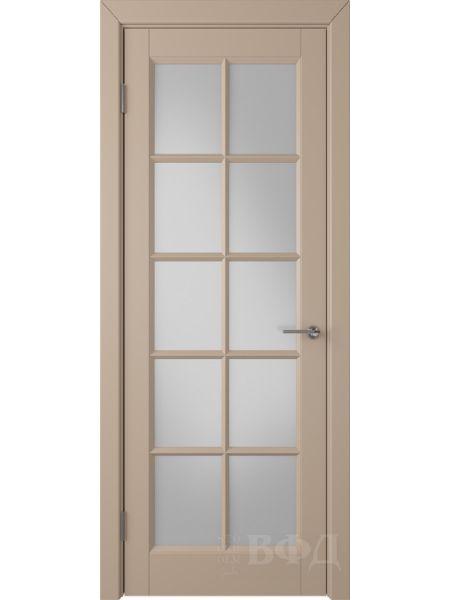 Межкомнатная дверь ВФД Гланта 57ДО04 (Латте эмаль - Белый сатинат)