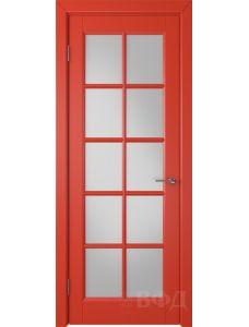 ВФД Гланта 57ДО07 (Красная эмаль - Белый сатинат)