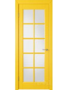 ВФД Гланта 57ДО08 (Желтая эмаль - Белый сатинат)