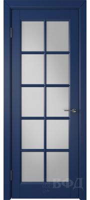 ВФД Гланта 57ДО09 (Синяя эмаль - Белый сатинат)
