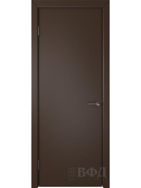 Межкомнатная дверь ВФД Ньюта 59ДГ05 (Шоколадная эмаль)