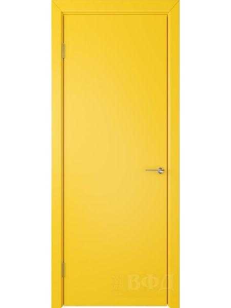 Межкомнатная дверь ВФД Ньюта 59ДГ08 (Желтая эмаль)