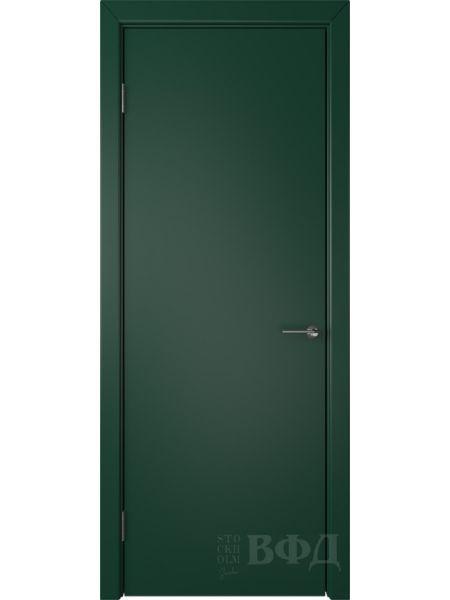 Межкомнатная дверь ВФД Ньюта 59ДГ10 (Зеленая эмаль)