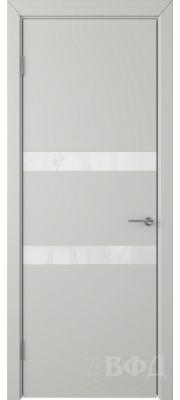 ВФД Ньюта 59ДО02 (Светло-серая эмаль - Стекло белое)