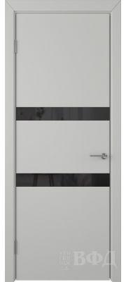 ВФД Ньюта 59ДО02 (Светло-серая эмаль - Стекло черное)