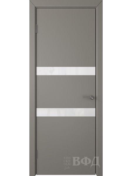 Межкомнатная дверь ВФД Ньюта 59ДО03 (Темно-серая эмаль - Стекло белое)