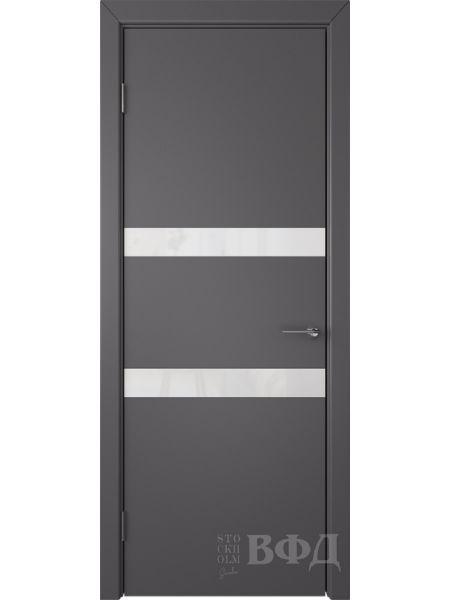 Межкомнатная дверь ВФД Ньюта 59ДО06 (Графит эмаль - Стекло белое)