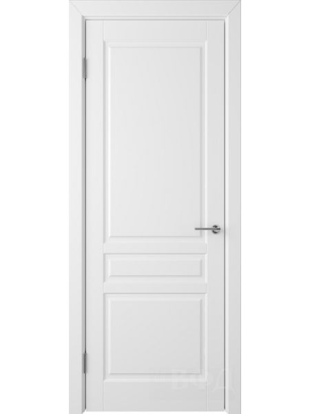 Межкомнатная дверь ВФД Стокгольм 56ДГ0 (Белая эмаль)
